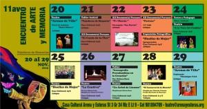 Programación 11vo Encuentro Arte y Memoria 2015 - Arena y Esteras